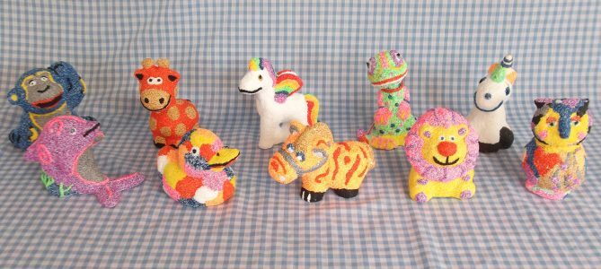 Funky foam clay party package